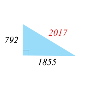 Pythagorean triple 2017