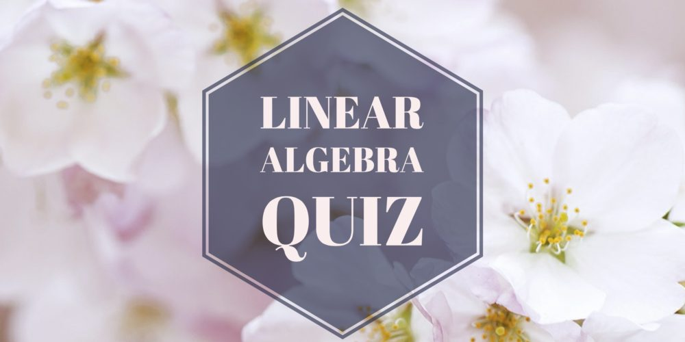 Introduction to Linear Algebra at the Ohio State University quiz problems and solutions