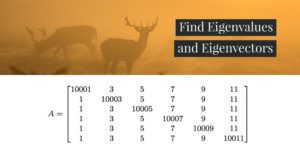 Find Eigenvalues and Eigenvectors. MIT Linear Algebra homework problem and solution
