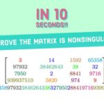 How to Prove a Matrix is Nonsingular in 10 Seconds