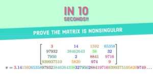 How to Prove a Matrix is Nonsingular in 10 Seconds!!