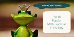Top 10 Popular Math Problems 2016-2017