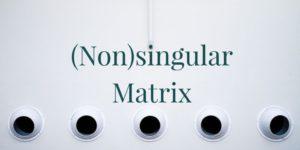 Nonsingular matrix and singular matrix problems and solutions