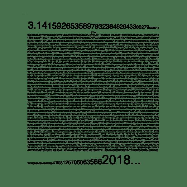 2018 appears in pi