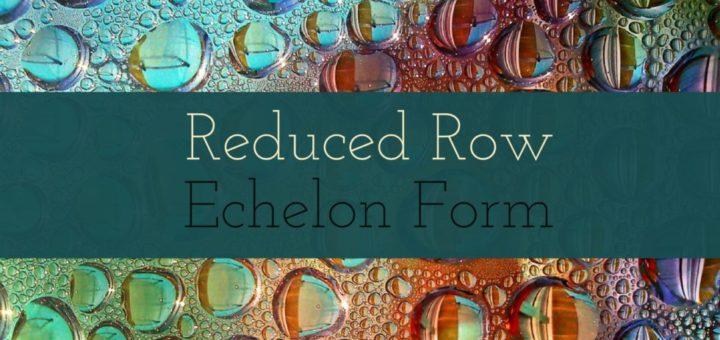 Find All 3 by 3 Reduced Row Echelon Form Matrices of Rank 1